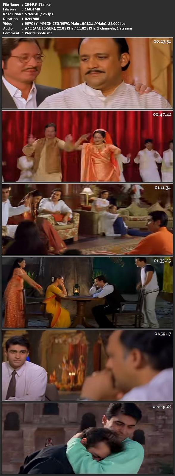Screenshot Of Hum Saath Saath Hain 1999 Full Movie 100MB  HEVC Mobile Free Download