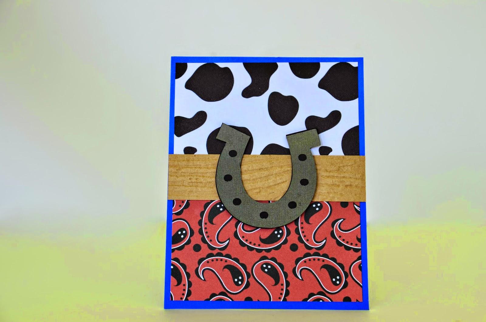 cowboy handmade invitations