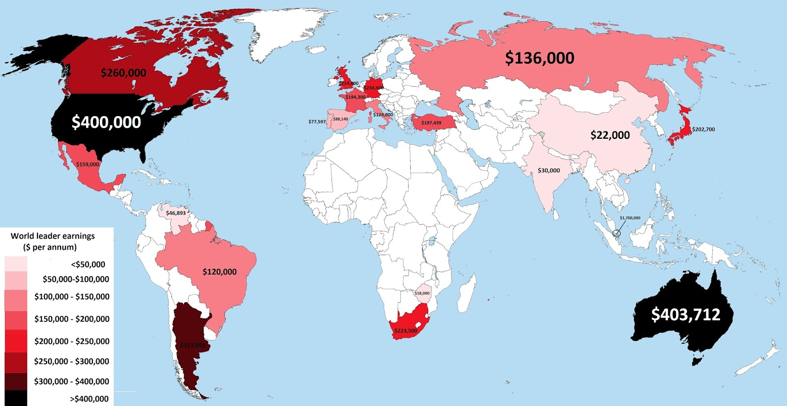 How much do world leaders earn?