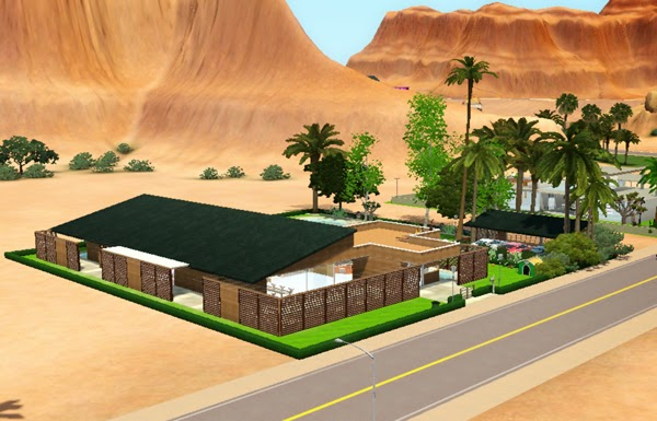 [LIVING DESIGN] WOODEN BOX HOUSE THE SIMS 3 side3