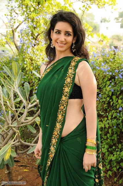 Actress+Kriya+Latest+Hot+Spicy+Stills+in+Green+Saree+(5)