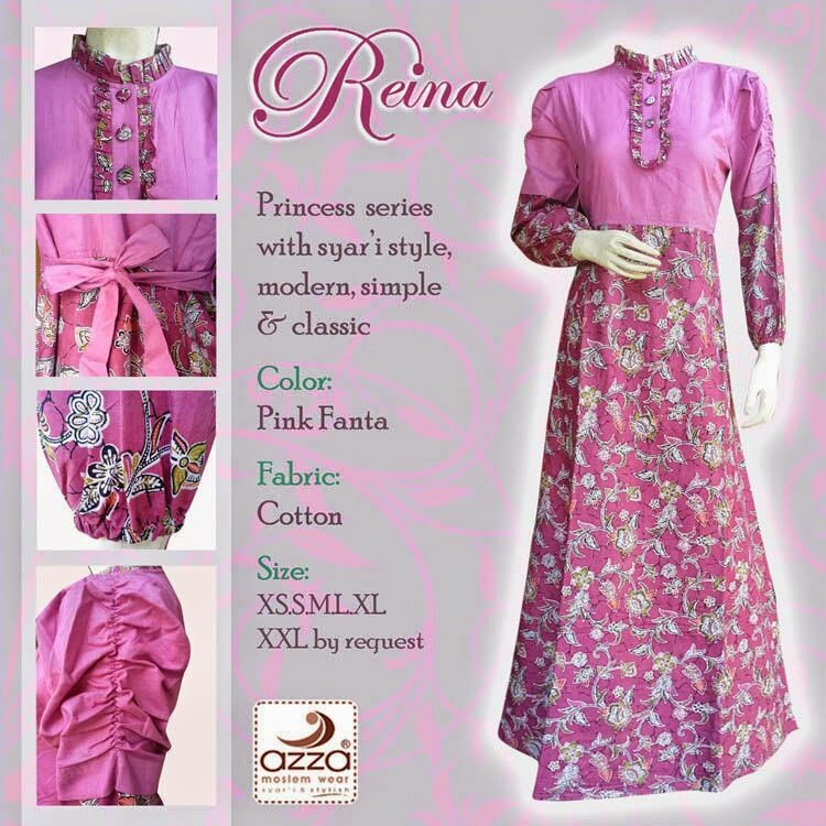 Gamis Princes Reyna Pink Fanta