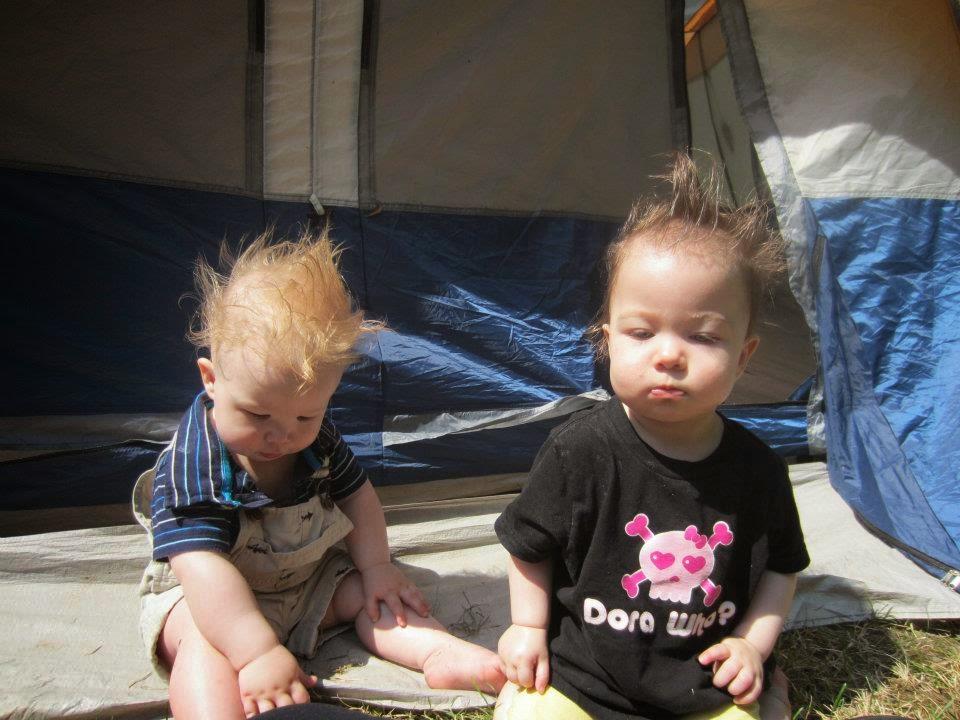 punk rock babies, babies camping