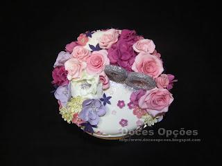 cake ninety flowers