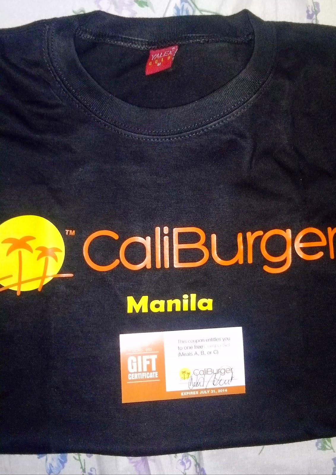 caliburger tshirt
