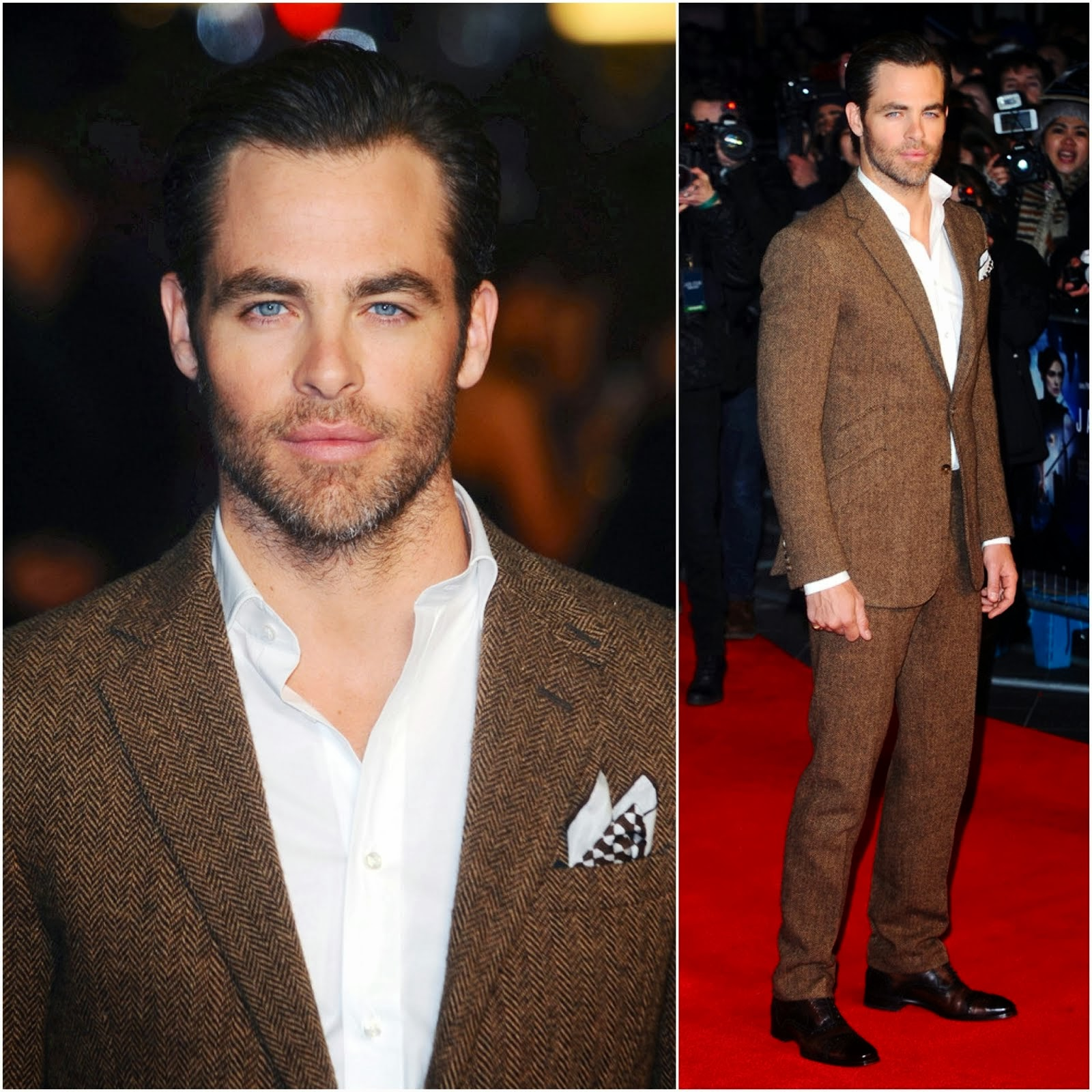 Chris Pine in Ralph Lauren - 'Jack Ryan: Shadow Recruit' London Premiere