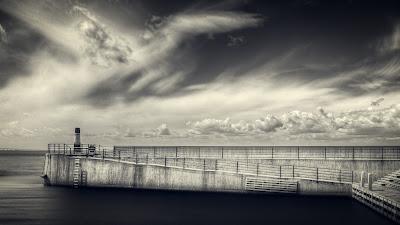 Clouds Sky Pier Öresund Sweden Scandinavia