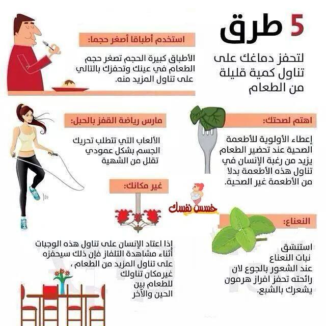 5 خدع لتناول كمية قليلة من الطعام