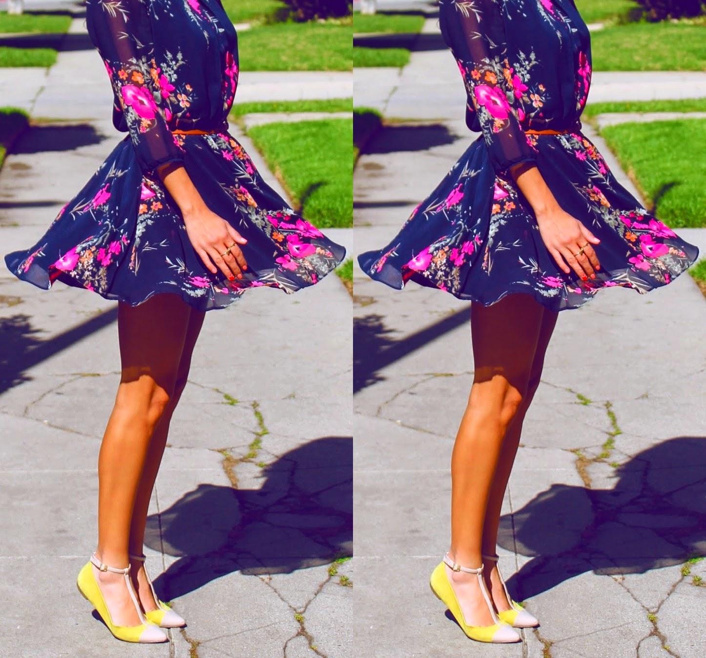 blog Gleikka, Inspirações, moda, vestidos, vestido e sapatilha, outono 2014, moda divertida, look colorido