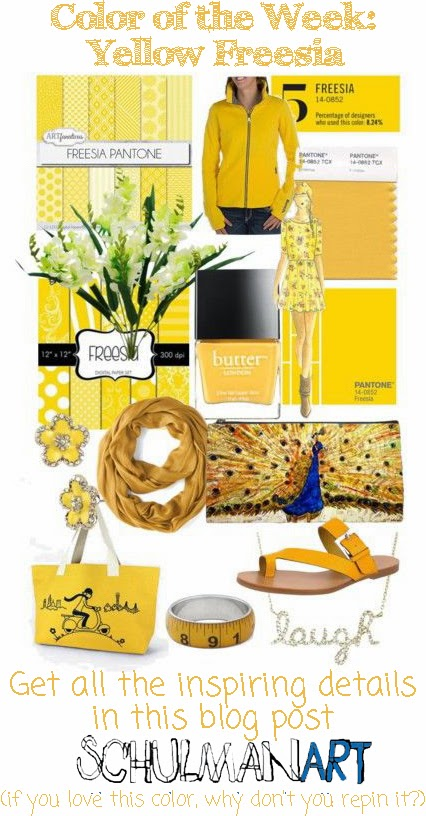 Spring 2014 Color Trend: Yellow Freesia