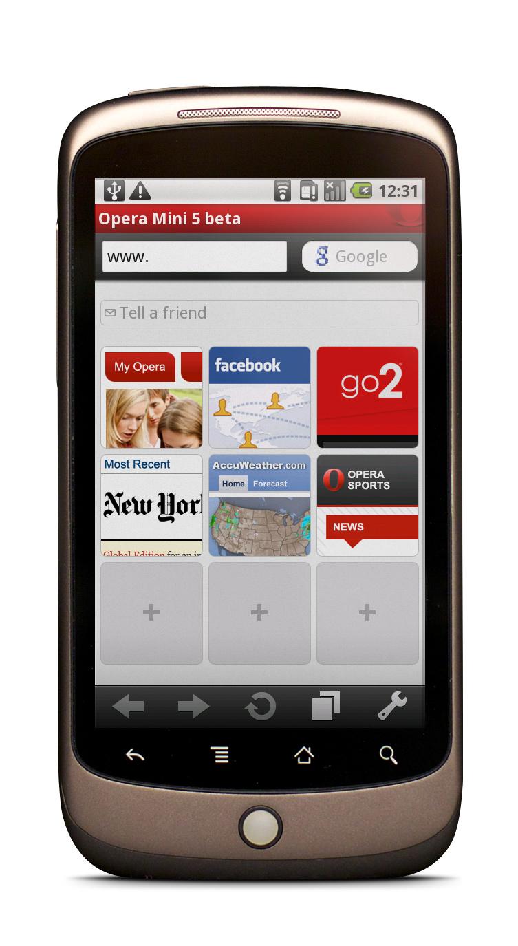 Скачать бесплатно Opera Mini для Samsung GT-i Galaxy 5 / Corby Smartphone