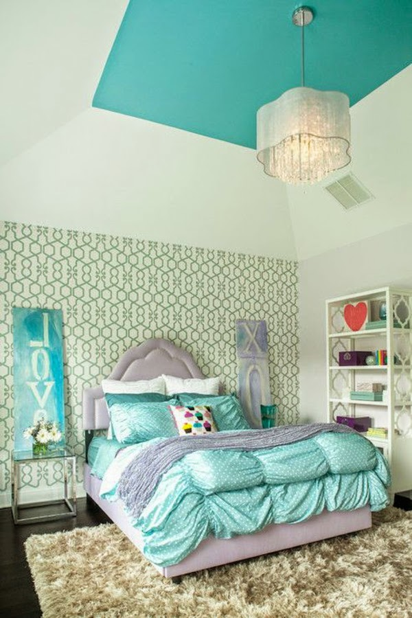 Cuartos para adolescentes en gris y turquesa - Dormitorios ...