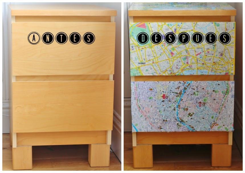 Paso a paso: Como intervenir un mueble con mapas. / Soy un Mix!