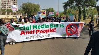 activists storm National Assembly to protest controversial Social Media Bill