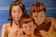 Este fue uno de los primero retratos que hice a óleo. (niã'os marta)