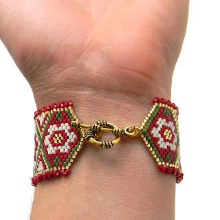 браслет из бисера ручной работы делика Anabel