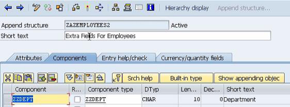 Append Structures in SAP  TABLES