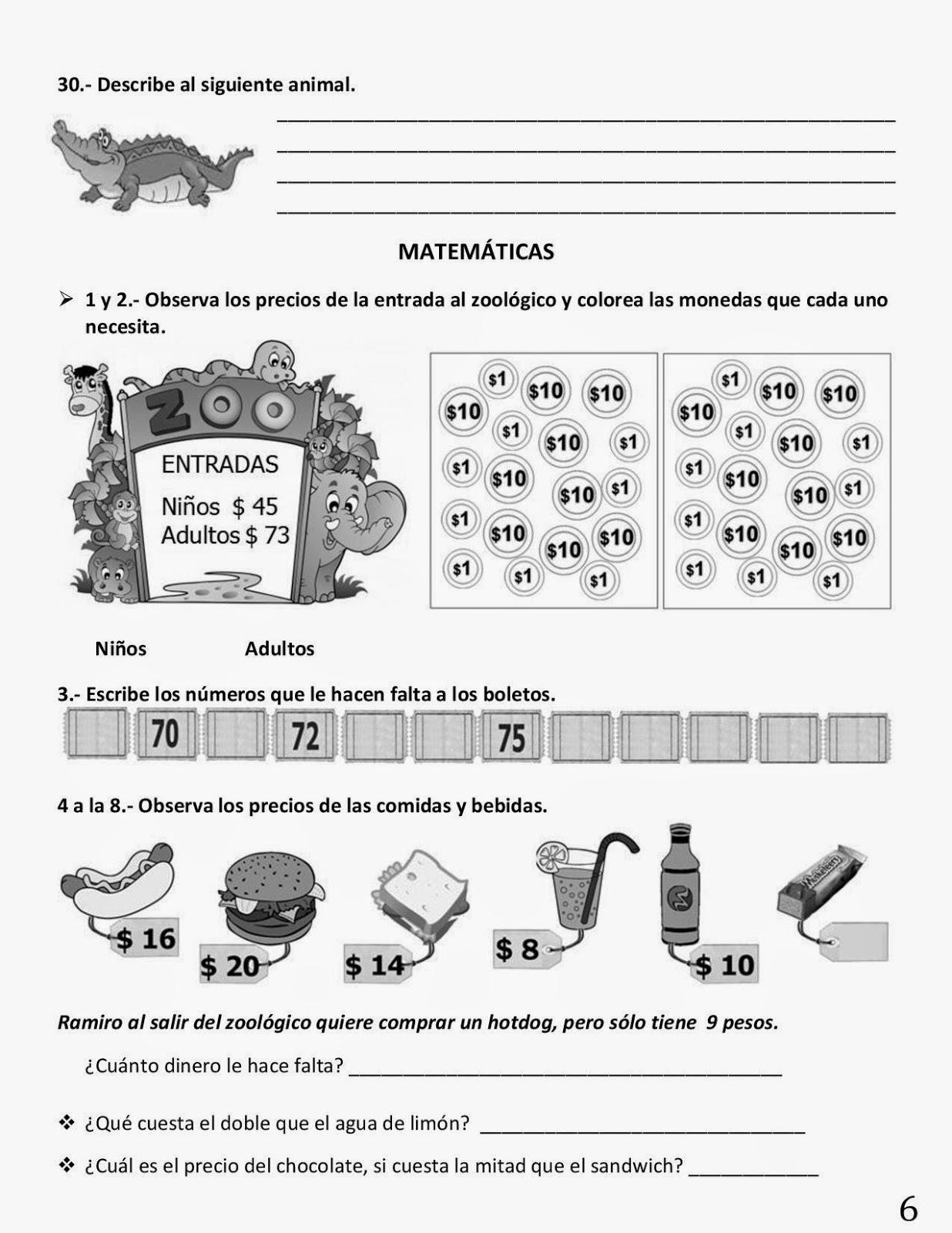 Examen 1er grado Bloque 4 2014-2015 pag 6