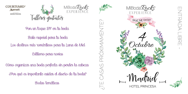 Talleres Gratis Mi Boda Rocks Experience Madrid 4 octubre 2015