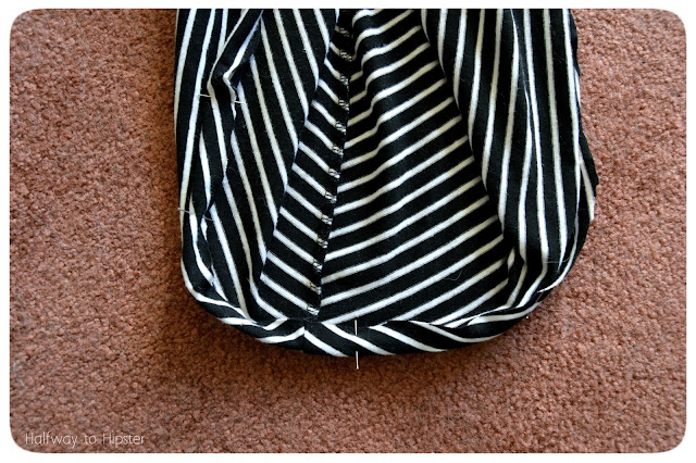 Striped Dress Refashion