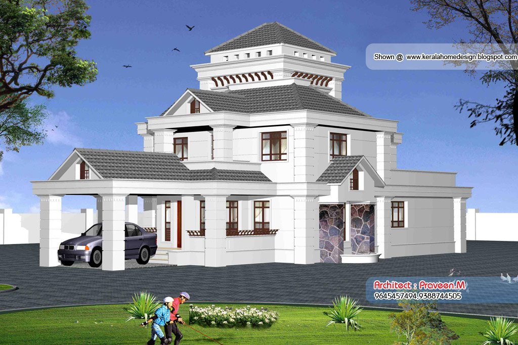 3 Beautiful Home Elevation Designs In 3d Kerala Home