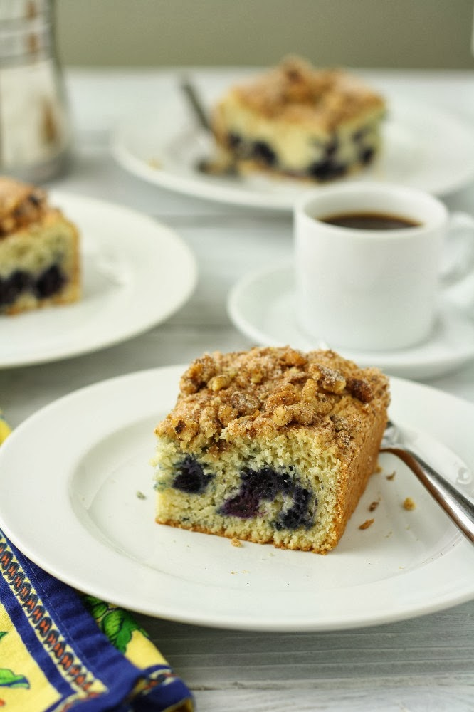 blueberry-walnut coffee cake