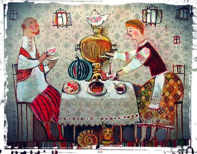 картина чаепитие