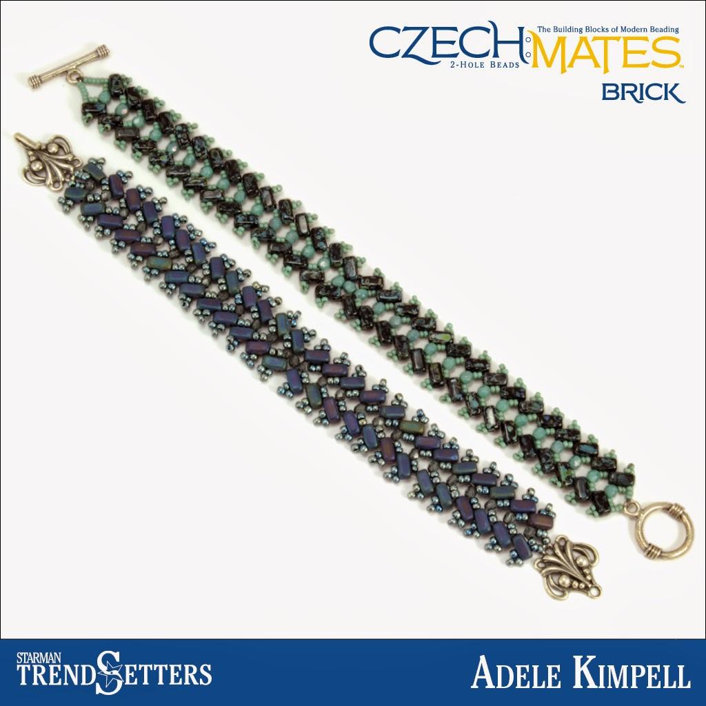 CzechMates Brick bracelet by Starman TrendSetter Adele Kimpell