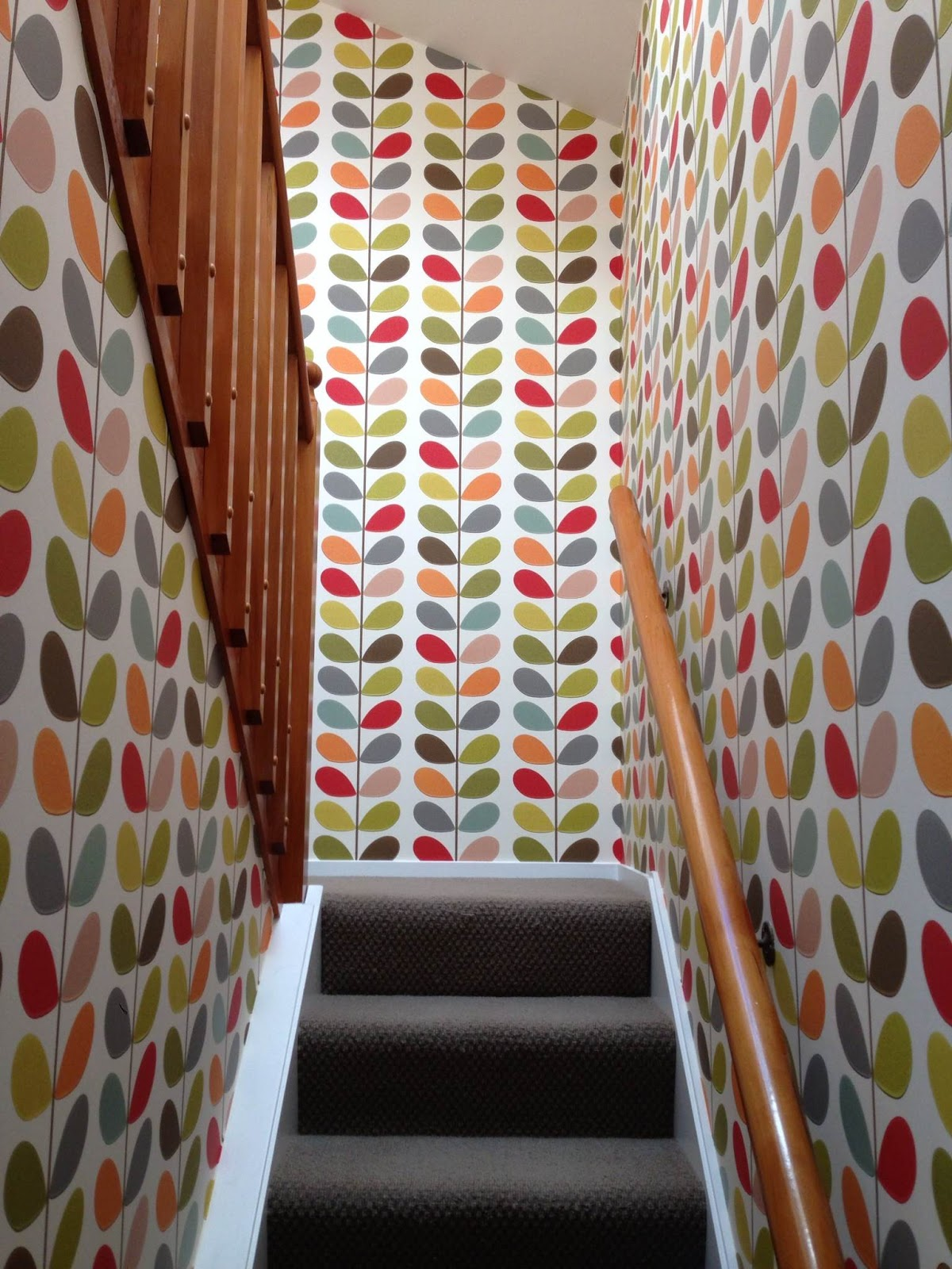 esdesign an orla kiely stairwell. Black Bedroom Furniture Sets. Home Design Ideas