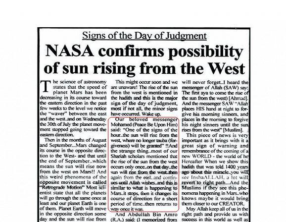 Matahari Terbit Dari Barat