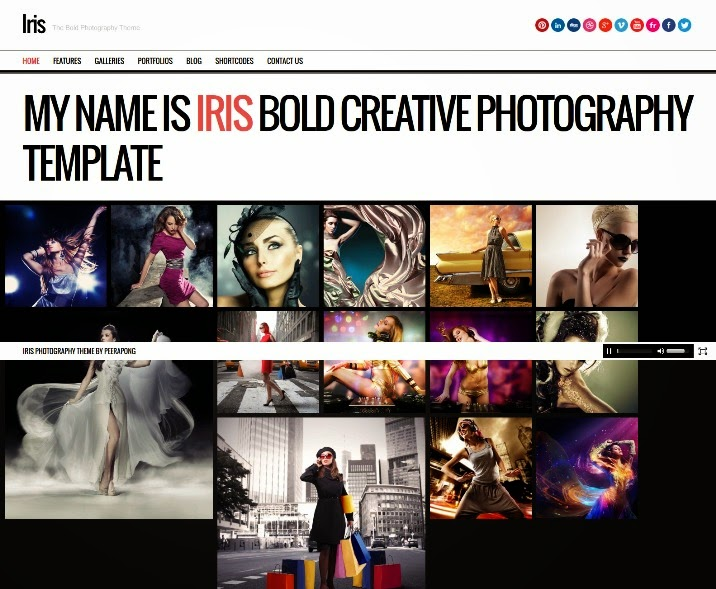 Iris Bold Photography Portfolio Theme