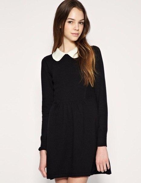 Фото платье школьное чёрное