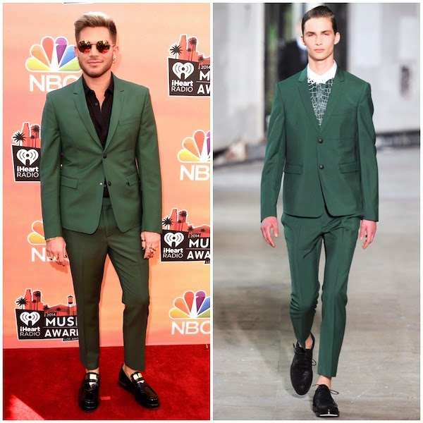 Adam Lambert in Kris Van Assche - 2014 iHeartRadio Music Awards