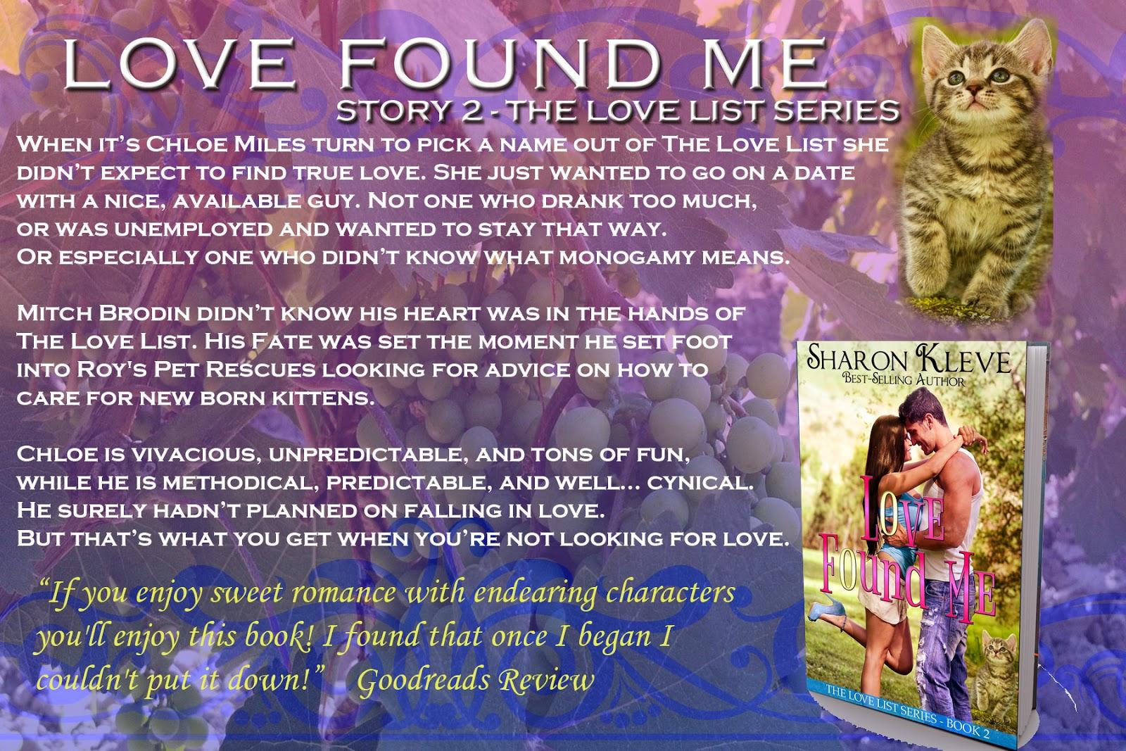 Sharon kleves romantic ramblings love found me amazon httpamazonlove found me list book ebook dpb00noazl0crefsr13ieutf8qid1411842442sr8 3keywordssharonkleve fandeluxe Images