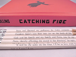 hunger games catching fire pencils etsy