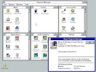 Interface gráfica nem era sistema mas uma interface para o DOS