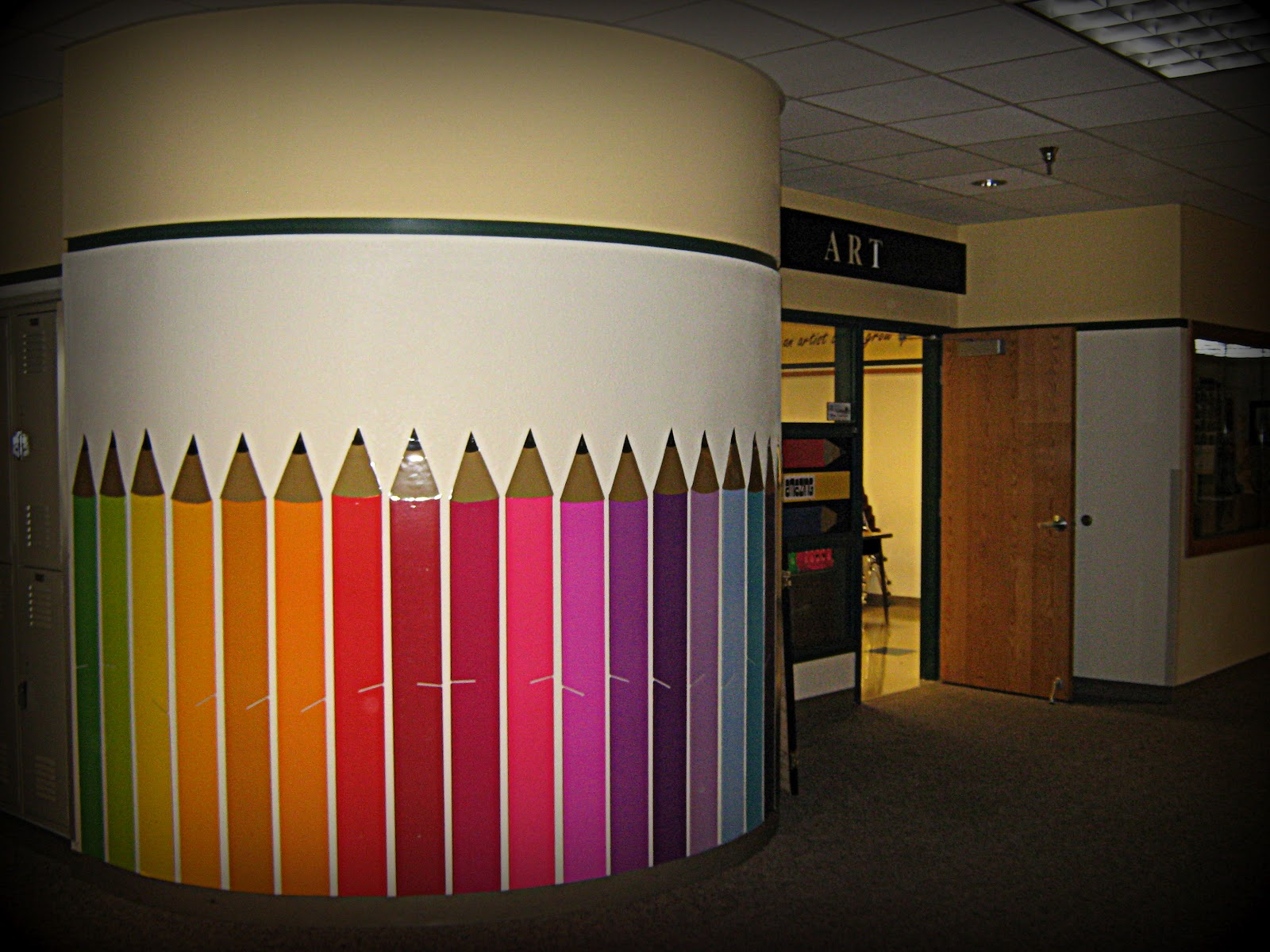 Classroom Wall Decorations Middle School ~ Art in the middle school target colored pencils
