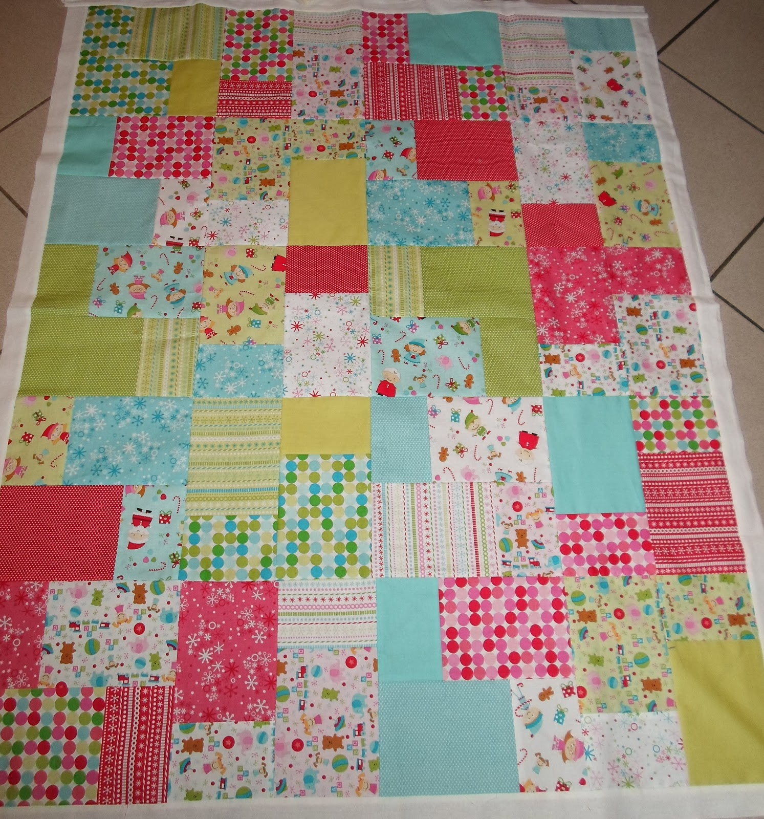 Layer Cake Quilt As You Go : Sewing by Shirley: Double Slice Layer Cake Quilt