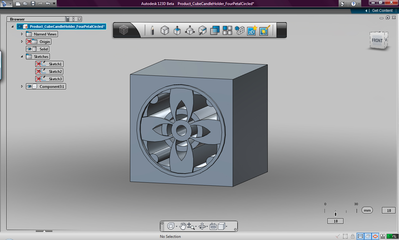 Ill Make It Look Pretty You Can Do The Rest Using Free Autodesk D Beta To Design Shapeways Models For D Printing