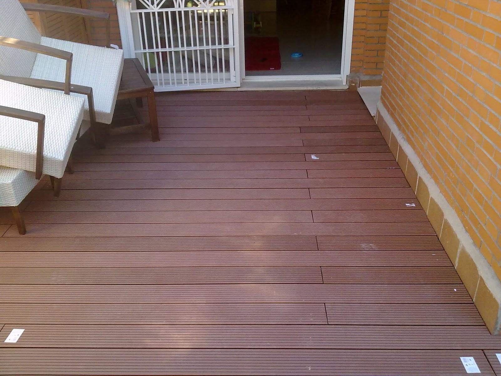 Miguel garcia carpintero suelo de composite en terraza for Suelo de madera terraza