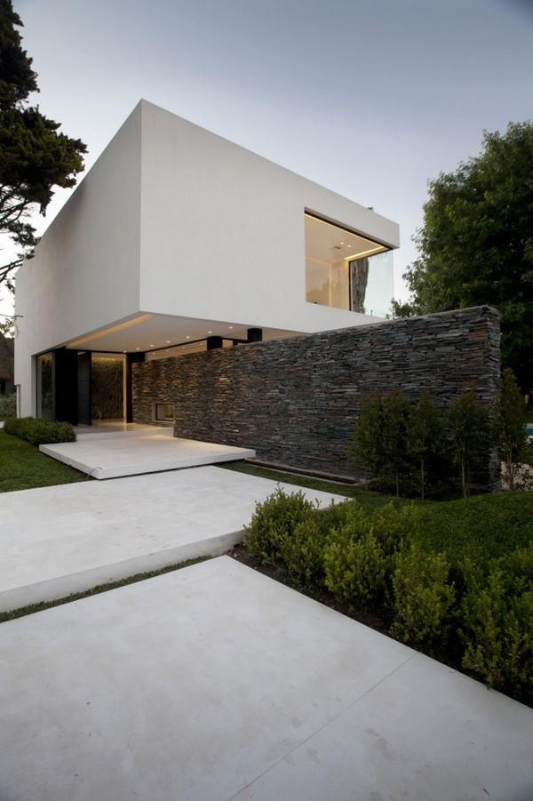 Decoraci n minimalista y contempor nea casa con fachada e interiores con bar minimalista - Maison s par domenack arquitectos ...