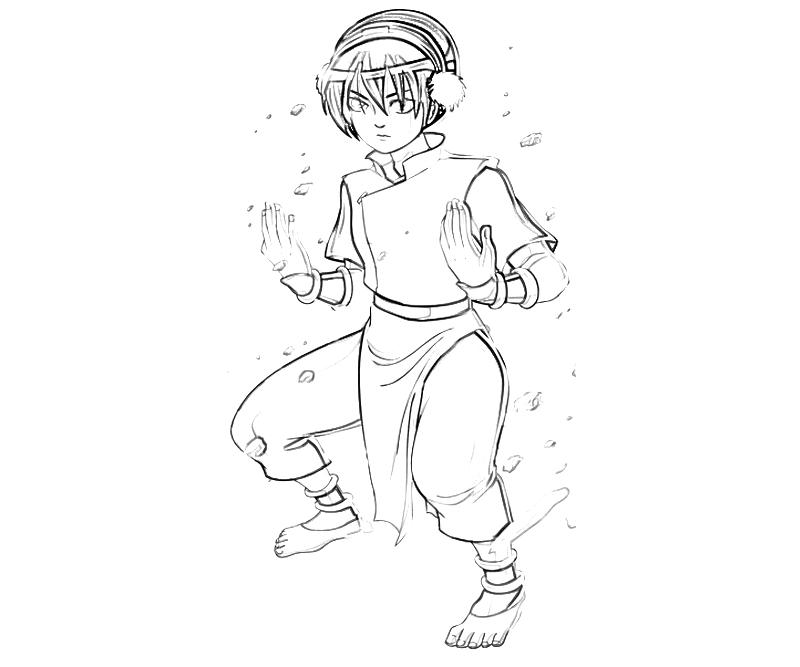 avatar-toph-skill-coloring-pages