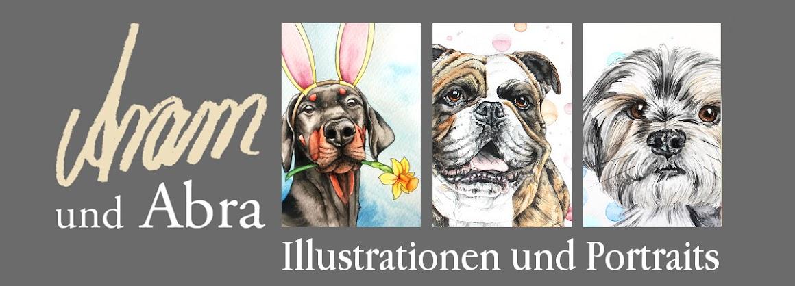 Aram und Abra - Illustrationen und Portraits | Kunstblog und Hundeblog