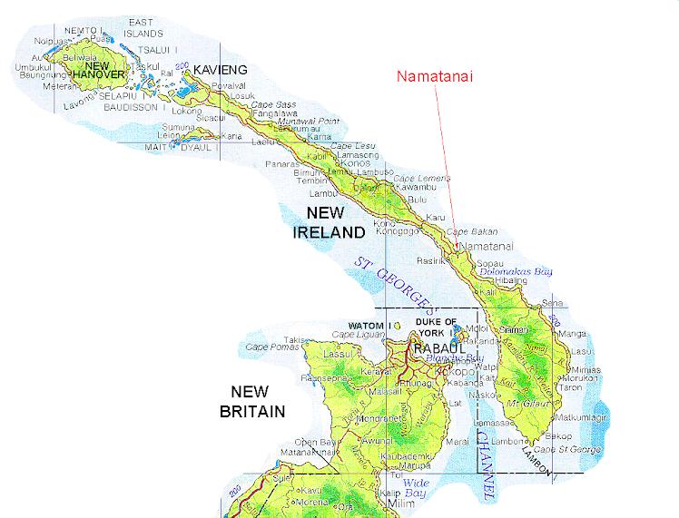 Namatanai Map