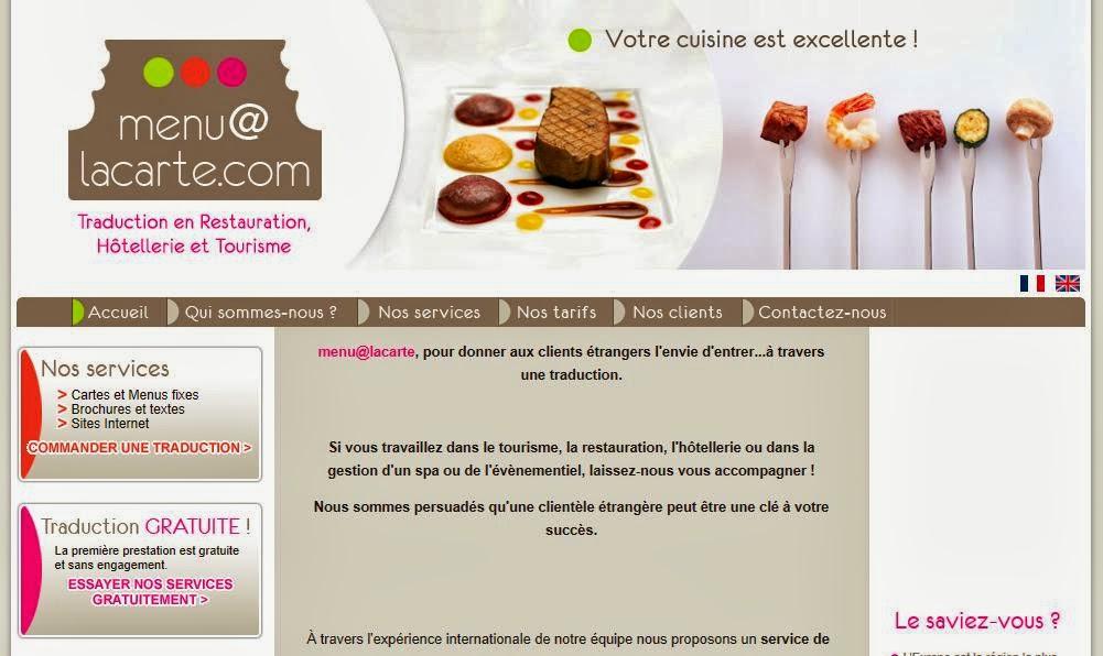 A la d couverte des sites internet menu alacarte la for Site pour les hotels