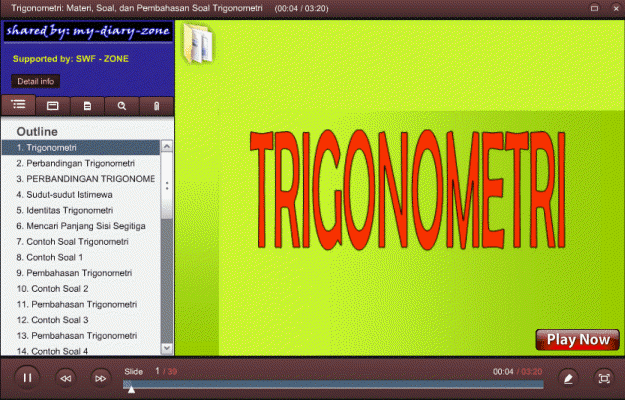presentasi, trigonometri.swf, adalah, free download, materi matematika, trigono metri, soal dan pembahasan trigonometri SMP MTs, pptx to swf, pptx to flash