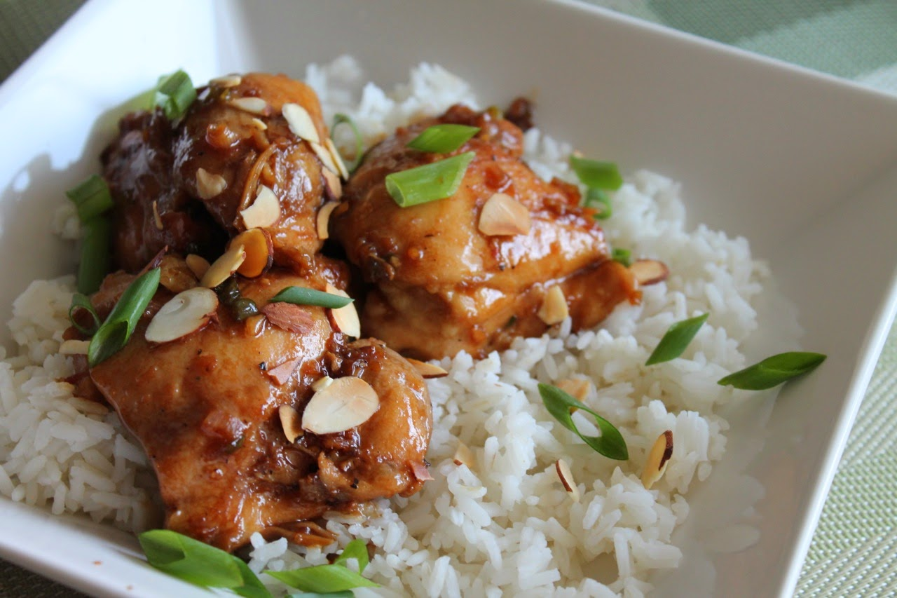 Bourbon Ginger Glazed Chicken