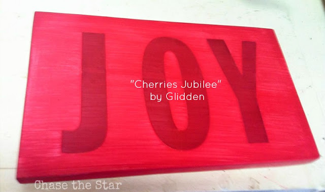http://www.chasethestar.net, diy, sign, joy, glidden