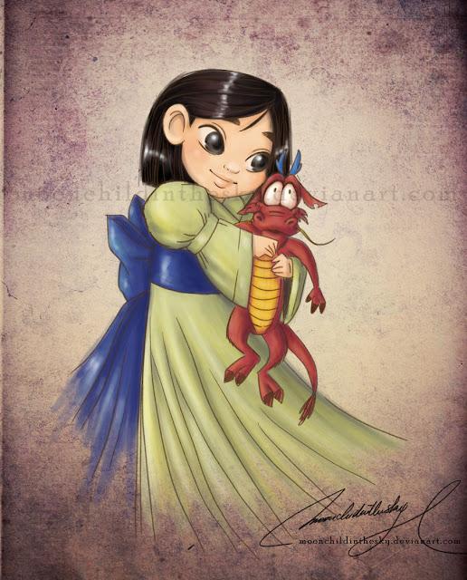 Принцессы Диснея - Страница 2 Child_mulan_by_moonchildinthesky-d3e23z1