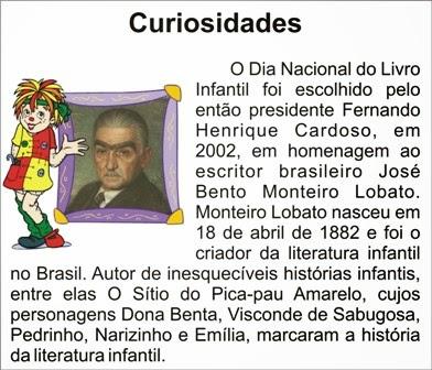 Wilqueteca: 18 de Abril- Dia Nacional do Livro Infantil